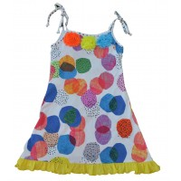 Apricot girls' dress A903